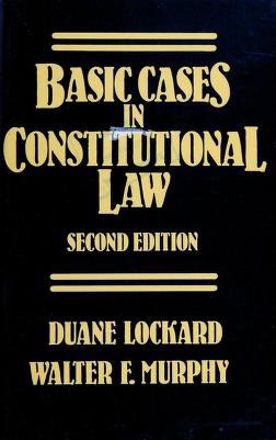 Cover of: Basic cases in constitutional law | Duane Lockard