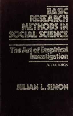 Cover of: Basic research methods in social science | Julian Lincoln Simon
