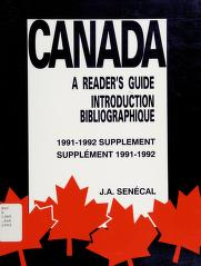 Cover of: Canada | J. A. Senécal