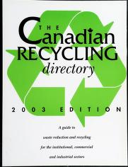 Cover of: The Canadian recycling directory | publisher and editor, Mark Sabourin.