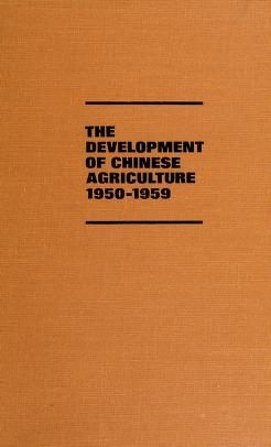Cover of: DEVEL OF CHINESE AGRICULT (Illinois studies in the social sciences) | Peter Schran