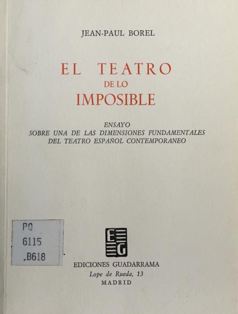 El teatro de lo imposible by Jean Paul Borel