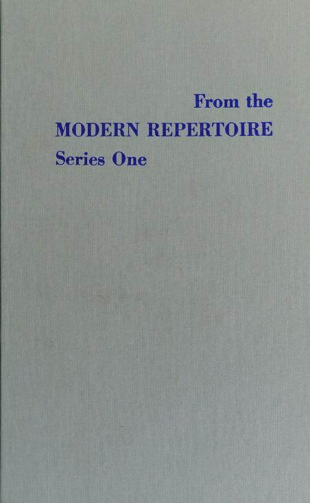 From the Modern Repertoire Series One by Bentley                      E