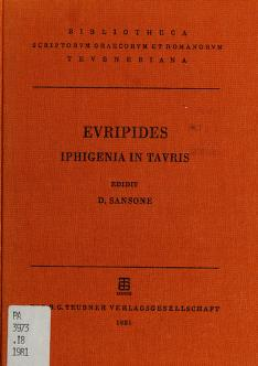 Cover of: Iphigenia in Tauris | Euripides