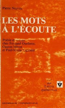 Cover of: Les mots a l'ecoute | Pierre Nepveu