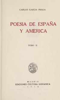 Cover of: Poesía de España y América | Carlos García Prada