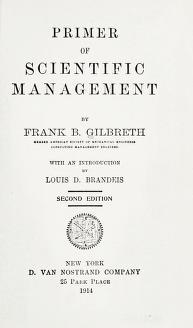 Cover of: Primer of scientific management | Frank Bunker Gilbreth