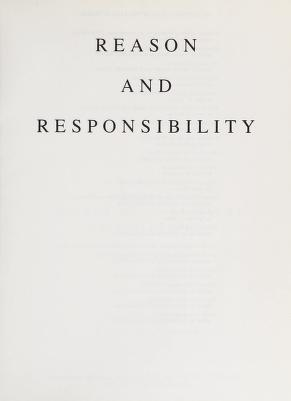 Cover of: Reason and responsibility | Joel Feinberg