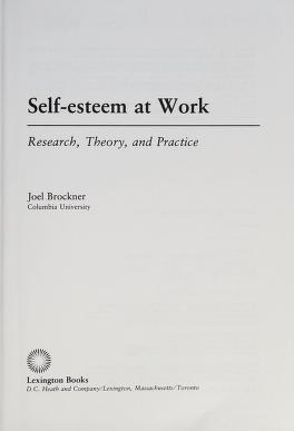 Cover of: Self-esteem at work | Joel Brockner